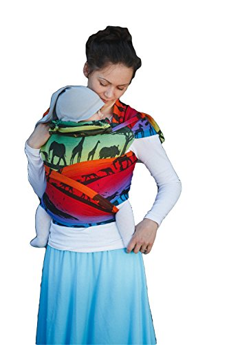 Lenny Lamb Wrap Tai Child Carrier Mini Baby Size Rainbow Safari 2.0
