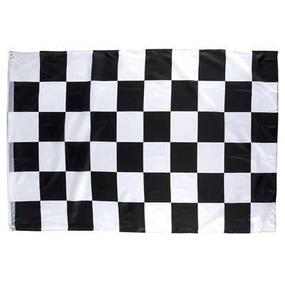 Iii Racing - Checkered Racing Flag 3x5 Ft Black & White - Play Kreative TM (RACING)