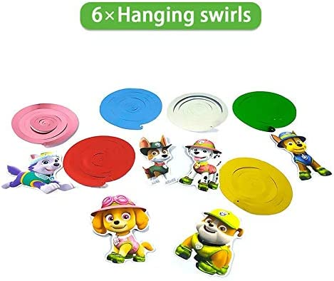 Decor Birthday Girls Third Set Balloons Decorations For Boy 3rd Paw Patrol Party Supplies Backdrop Banner