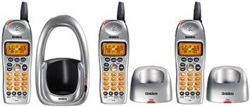 Uniden DCT646 – 3 2,4 GHz Sistema de teléfono inalámbrico Digital Ampliable con 3 terminales y identificador de Llamadas (Plata): Amazon.es: Electrónica