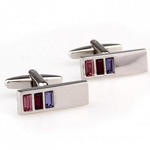 Fit FashionTZG01091 Enamel Cufflink 1 Pair - Link Tec