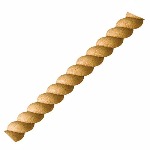 - Split Rope Molding, Oak 3/4