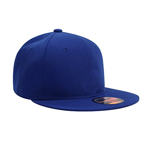 Flat Visor Snapback Hat Blank Cap Baseball Cap - 8 Colors ()