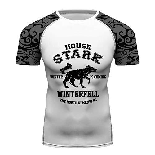1d800f30b Full Printing House Stark Custom Running Singlet Compression Gym Fitness Tee  Shirt BJJ MMA Rash Guards
