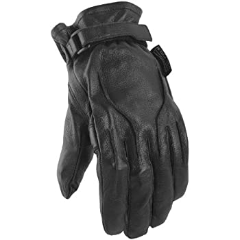 Power Trip Jet Black Lined Mens Motorcycle Gloves
