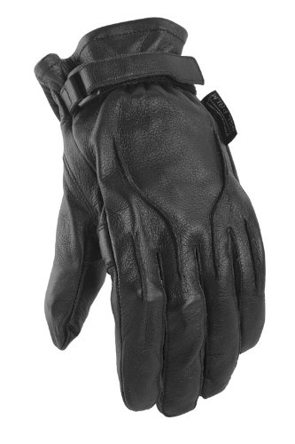 Power Trip Jet Black Lined Women's Motorcycle Gloves (Black, Medium)