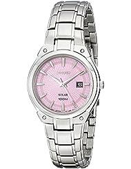 Seiko Womens SUT127 Dress Solar Analog Display Japanese Quartz Silver Watch