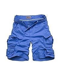 DOOXIUNDI Men's Relaxed Fit Long Cargo Shorts Capri Pants