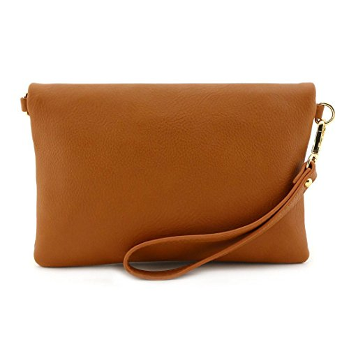 Bag Envelope Strap Crossbody Foldover Chain with Tan Bagblaze Wristlet Clutch TSwXxnqBq