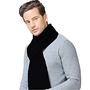 Taylormia Mens Winter Cashmere Feel Australian Merino Wool Scarves Warm Soft Knit Scarf
