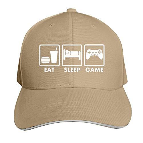 ADBOSS Video Games Eat Sleep Adjustable Baseball Caps Vintage Sandwich Hat Sandwich Cap Peaked Trucker Dad Hats