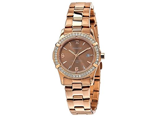 Accurist LB1543 Ladies Brown Rose Gold Sports Watch