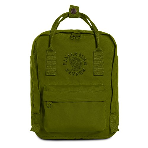 Fjallraven - Kanken, Re-Kanken Mini Recycled Backpack for Everyday Use, Heritage and Responsibility Since 1960, Spring Green (Best Backpack For Everyday Use)
