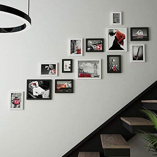JQWQJ Fotomural Escalera de Pared Marco Creativo Combinación de Pasillo Decoración de Pared Colgante Fotomural de Pared (Color: B): Amazon.es: Hogar