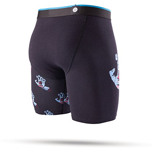 Stance Del Mar Boxer Shorts Small Screaming Hand Black