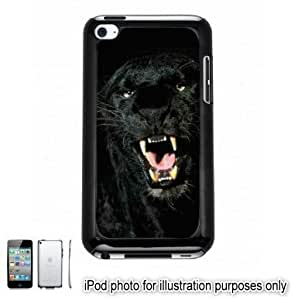 Black Panther Mouth Photo Apple iPod 4 Touch Hard Case Cover Shell Black 4th Generation