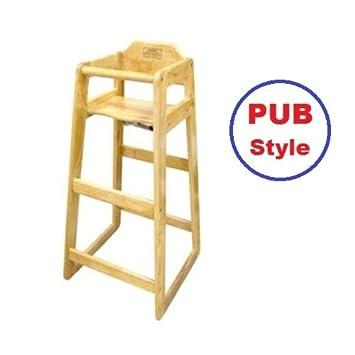 Amazon.com: Madera Pub alta silla para mesas y Contadores ...
