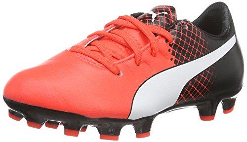 Puma Evopower 3.3 Tricks AG Jr, Botas de Fútbol Unisex Niños Rojo / Negro / Blanco
