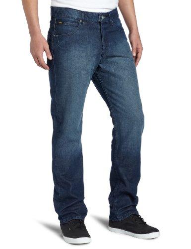 (Volcom Men's Enowen 32 Inch Straight Leg Jean, Sure Shot Dark wash, 32)