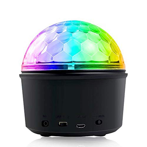 ZNN Stage Flash Projector 9 Color Star Magic Ball Light with Bluetooth Speaker USB Charging Wireless Phone Connection Remote Control Children's Party Gift Dance Bar Christmas Wedding Show - 632 Projector