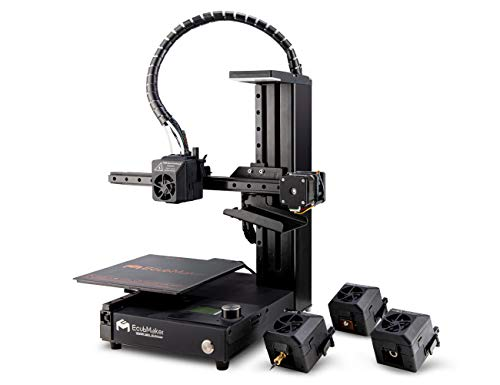 EcubMaker TOYDIY 4-in-1 3D Printer (Dual-Color 3D Printing/Laser Engraving/CNC Carving), Auto Leveling, Upgraded Version…