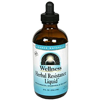 Source Naturals Wellness Herbal Resistance Liquid Subligual – Non-Alcohol, 100 Pure With Echinacea, Yin Chiao, Goldenseal More – 8 oz