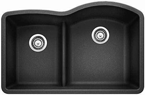 Blanco 441598 Diamond 1.75 Low Divide Under Mount Reverse Kitchen Sink, Large, Anthracite