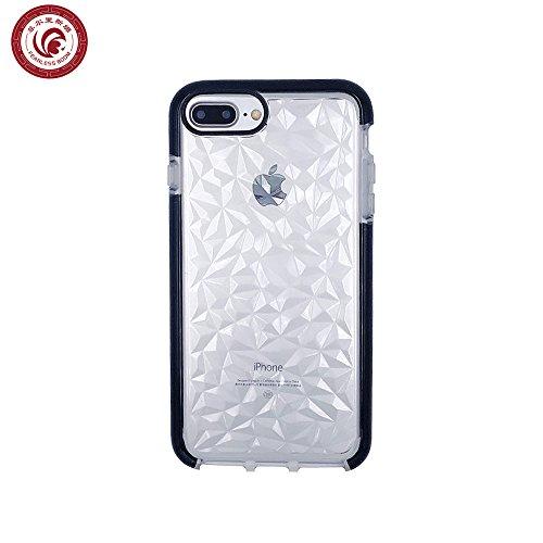 iPhone 7 Plus Case, iPhone 8 Plus Case,FEARLESSBOOM Luxury Geometric Diamond Transparent Soft Cover Rhombus Water Feeling Case for Apple iPhone 7 Plus/8 Plus (Halloween Treats Using Apples)