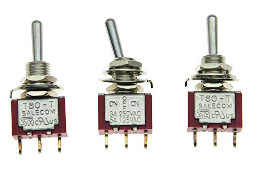 SALECOM 3x SPDT 3 Position ON OFF ON Guitar Mini Toggle Switch Car/Boat Switches