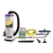 ProTeam Super QuarterVac HEPA Commercial Backpack Vacuum w/ Versatile Tool Kit & Telescoping Wand, 6 quart