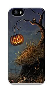 iPhone 5 5S Case Halloween Pumpkin and Owl344 3D Custom iPhone 5 5S Case Cover