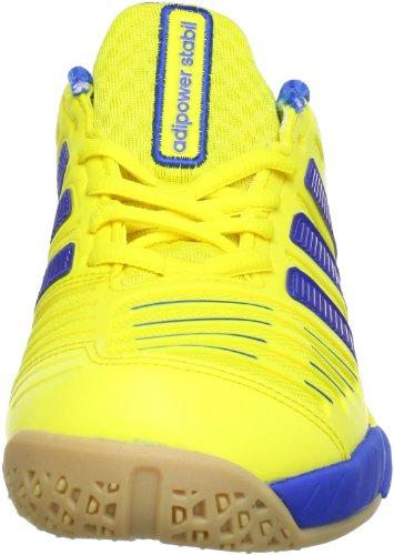 adidas adipower Stabil 10.0 G60603 Herren Handballschuhe Mehrfarbig (Vivid Yellow S13 / Prime Blue S12 / Prime Blue S12)