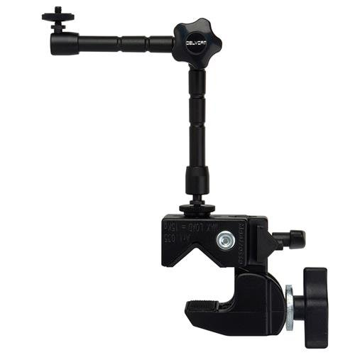 Delvcam LCD Monitor Multi-Arm Super Clamp Mount, 10lbs Capacity