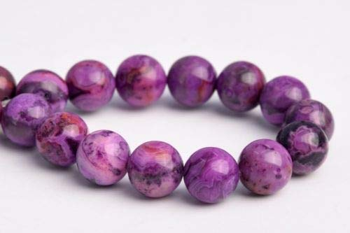(8mm Natural Deep Purple Crazy Lace Agate Grade Round Loose Beads 7.5'' Crafting Key Chain Bracelet Necklace Jewelry Accessories)
