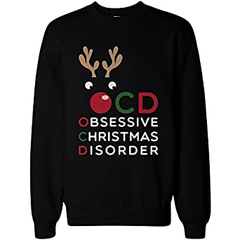 Amazon.com: Obsessive Christmas Disorder Christmas Sweatshirt X ...