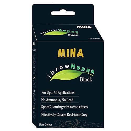 Mina Eyebrow Henna Black Regular Pack & Tinting Kit For Brow Dye