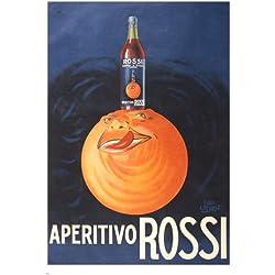 aperitivo rossi VINTAGE ITALIAN AD POSTER 24X36 ORANGE LIQUOR rare!