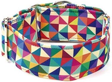 Galguita Amelie Collar Antiescape Triángulos, 4 cm, S: Amazon.es ...
