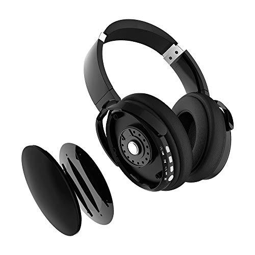 X-DRAGON - Auriculares Bluetooth con cancelación de ruido activa, con cable y auriculares inalámbricos con micrófono, alta fidelidad, graves profundos, ...