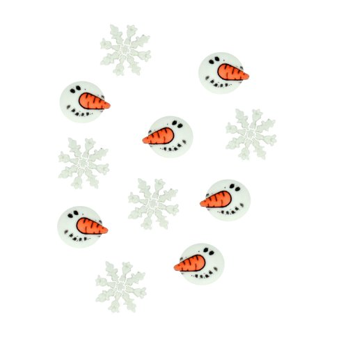 Dress It Up Snowman Faces Pack 11pcs Buttons, Varies
