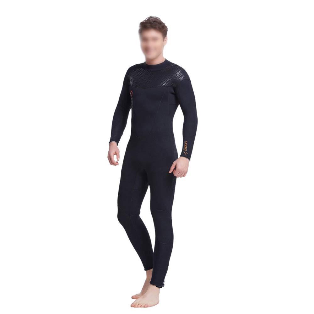 影寳服装店 ダイビングスーツの男性と女性5MMSCRシャムウェットスーツサーフィンウェア暖かい長袖の水着 (色 : Male, サイズ : M) B07SCR6C5V Male Medium