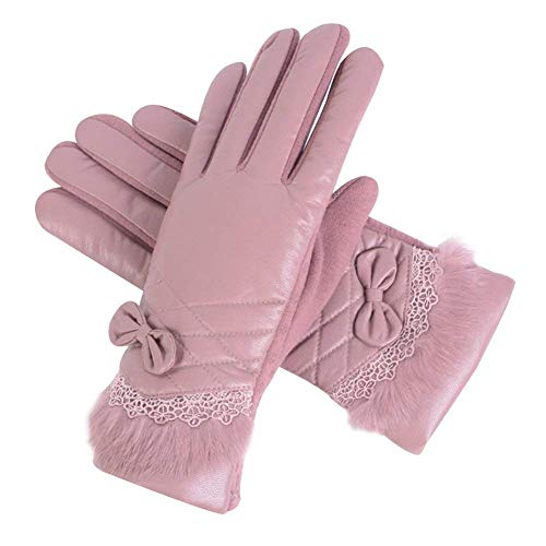 color women screen mittens finger christmas k winter solid ladies gifts thickening for full warm gloves - Christmas Mittens