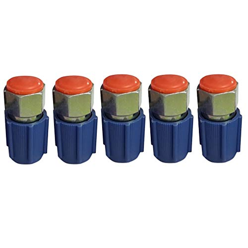Air R12 (Idyandyans 5pcs 7/16 AC Low Side Service Port Adapter Retrofit Replacement for R12 Air Conditioner Accessories)