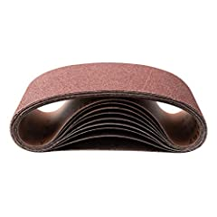 Introducing the 4 x 36Inch Aluminum Oxide Sanding Belt by POWERTEC. This premium pack of 10 was designed to provide you with a cost effective set of long lasting and high performance sanding belts. Made with open coat Aluminum Oxide (A/O) gra...