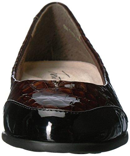 Women's Arnello Ballet Trotters Dark Black Brown Flat 1qdqEw