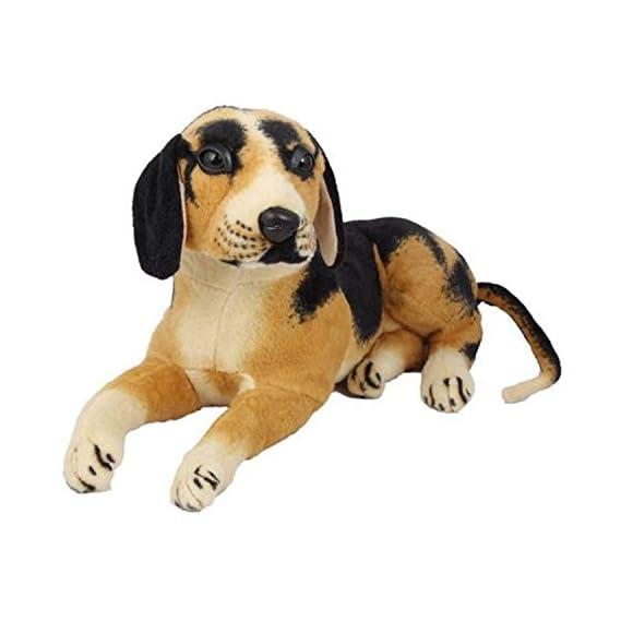 Jack Royal Stuffed Spongy Plush Security Purpose Sitting Dog Soft Toy (39 cm, Multi-Color)