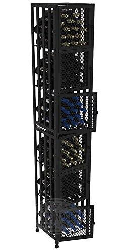 VintageView Case & Crate Metal Wine Rack Locker - Full Height - Capacity 96 Bottles by VintageView