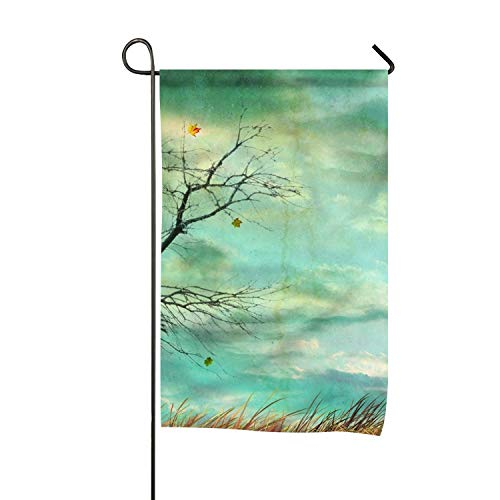 BYUII Garden Flag Holiday Decoration Artistic Fall Season Halloween Double Sided Flag 16 x 30 Inch