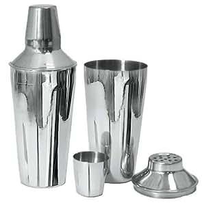 Adcraft BAR-3PC 3 Piece, 30 oz Capacity, Mirror Finish, Stainless Steel Bar Shaker Set