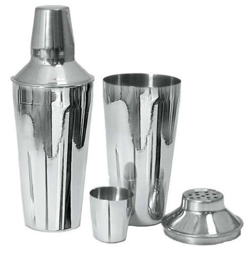 - Adcraft BAR-3PC 3 Piece, 30 oz Capacity, Mirror Finish, Stainless Steel Bar Shaker Set by Adcraft